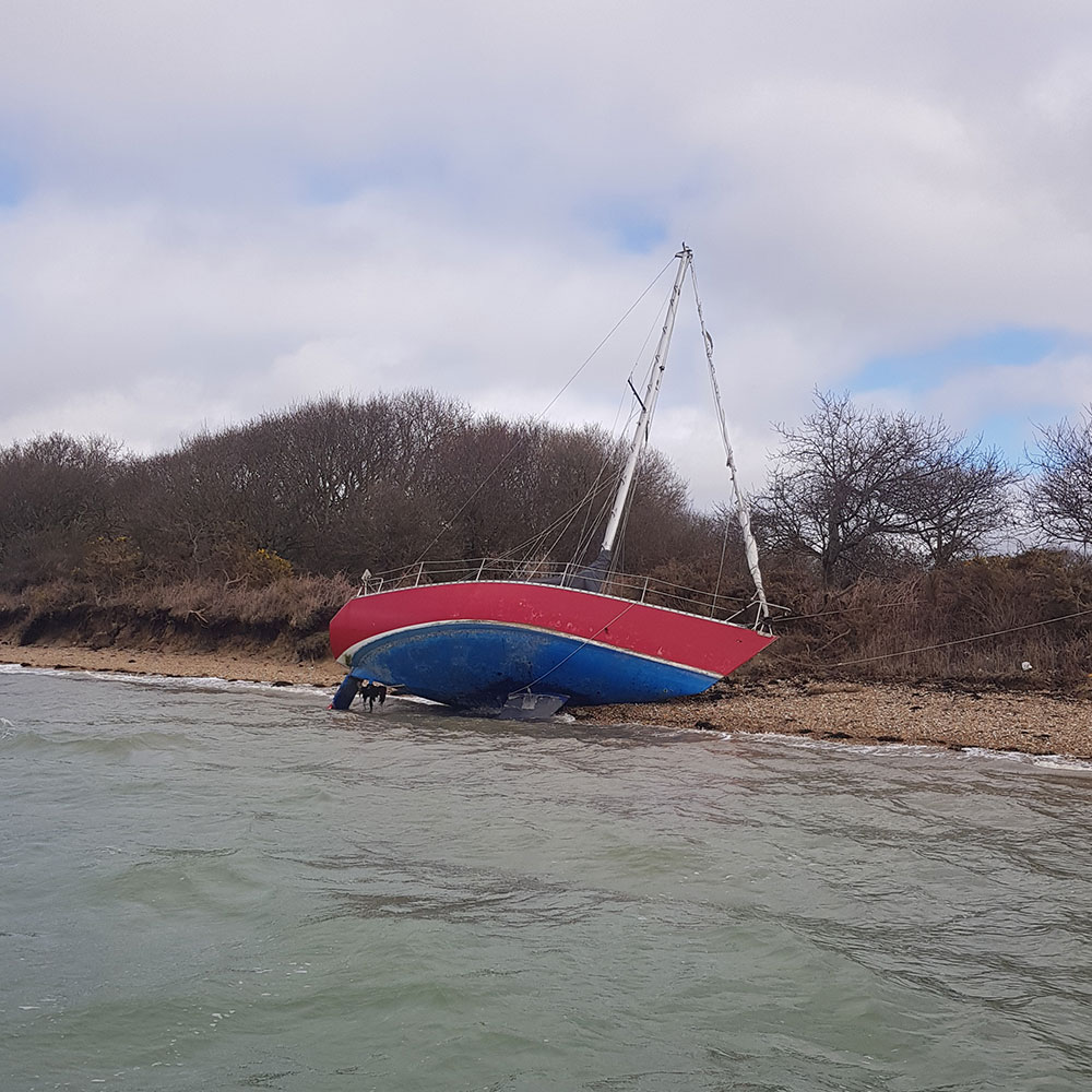 Sailing Yacht Run Aground